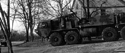 Heavy military equipment was used in the raid.